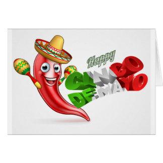 Cinco De Mayo Chilli Pepper Poster Design Card