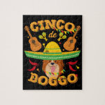 Cinco de Mayo Corgi Dog Jigsaw Puzzle
