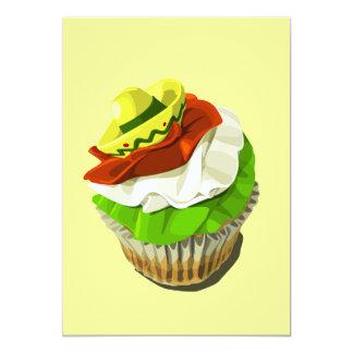 Cinco de Mayo cupcake invitation