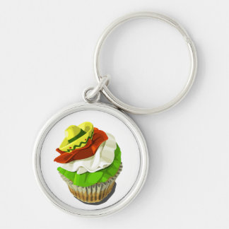 Cinco de Mayo cupcake keychain