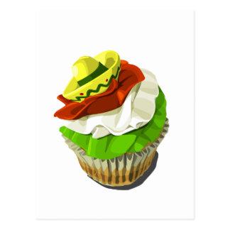 Cinco de mayo cupcake postcard
