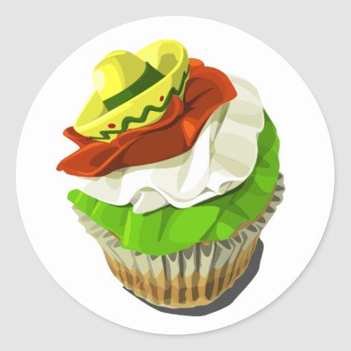 Cinco de Mayo cupcake sticker