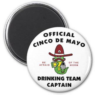 Cinco de Mayo Drinking Team Captain Fridge Magnet