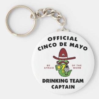 Cinco de Mayo Drinking Team Captain Key Chain