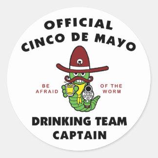 Cinco de Mayo Drinking Team Captain Stickers