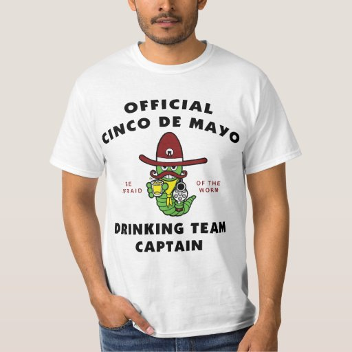 Cinco de Mayo Drinking Team Captain T-Shirt
