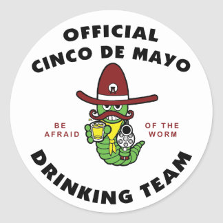 Cinco de Mayo Drinking Team Classic Round Sticker