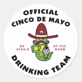 Cinco de Mayo Drinking Team Round Stickers