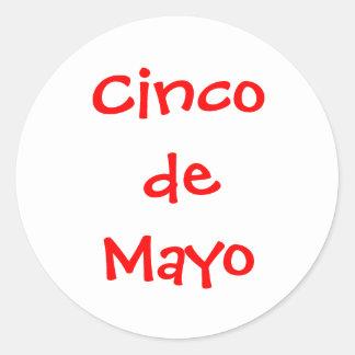 Cinco de Mayo Etiquetas