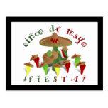 Cinco De Mayo Fiesta! (Add Background Color) Postcard