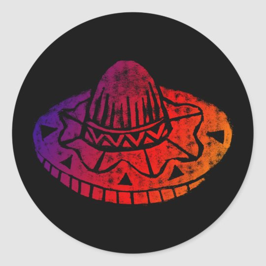 Cinco de mayo fiesta sombrero sticker