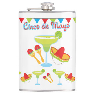 Cinco de Mayo Green Margarita Flask