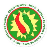 Cinco de Mayo Hot Chili Peppers Sticker