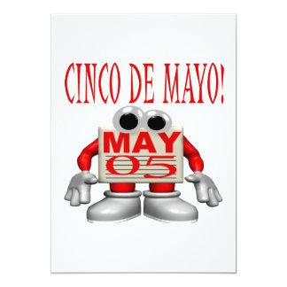 Cinco De Mayo Invitación 12,7 X 17,8 Cm