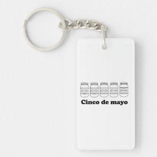 Cinco De Mayo Llavero Rectangular Acrílico A Una Cara