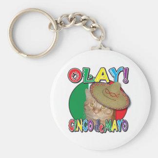 Cinco de Mayo Llavero Redondo Tipo Pin