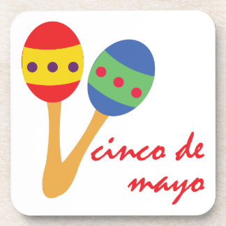 Cinco de Mayo Maracas Posavasos