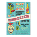 Cinco de Mayo Mexican Fiesta Party Invitations
