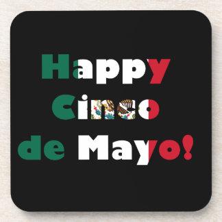 Cinco de Mayo Mexican Flag Design Drink Coaster