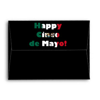Cinco de Mayo Mexican Flag Design Envelope