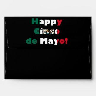 Cinco de Mayo Mexican Flag Design Envelope