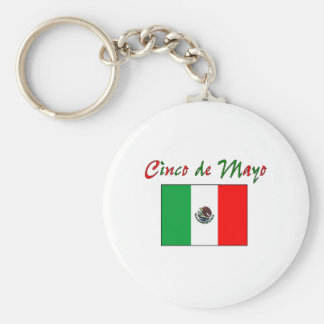 Cinco de Mayo Mexican Flag Shirt & Gifts Basic Round Button Keychain