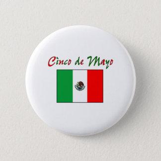 Cinco de Mayo Mexican Flag Shirt & Gifts Button