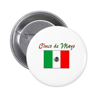 Cinco de Mayo Mexican Flag Shirt & Gifts 2 Inch Round Button