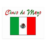Cinco de Mayo Mexican Flag Shirt & Gifts Postcard