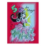 Cinco De Mayo Mexican Flamenco Dancer Postcard