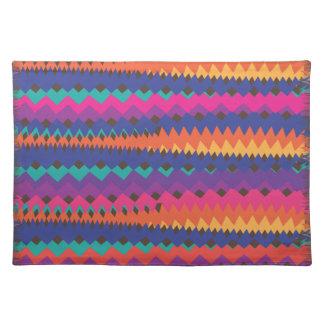 Cinco de Mayo Mexican ZigZag Colorful Stripes Place Mat
