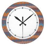 Cinco de Mayo Mexican ZigZag Southwestern Colors Round Clock