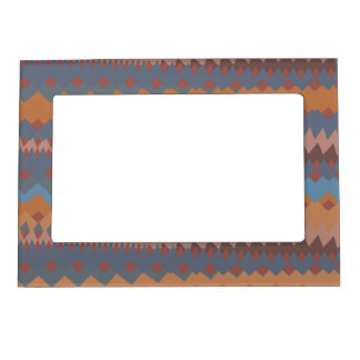 Cinco de Mayo Mexican ZigZag Southwestern Colors Magnetic Photo Frame