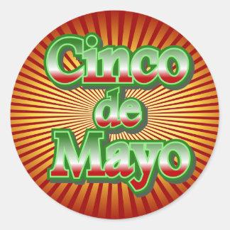 Cinco de Mayo México diseño del 5 de mayo Pegatina Redonda