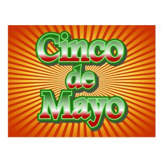 Cinco de Mayo México diseño del 5 de mayo Postal