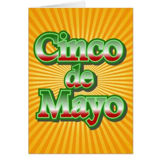 Cinco de Mayo México diseño del 5 de mayo Tarjeta De Felicitación
