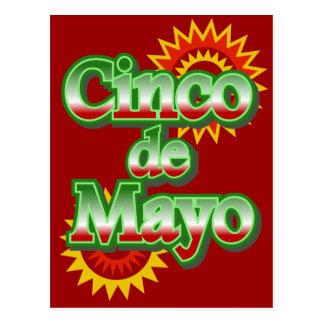 Cinco de Mayo México diseño del 5 de mayo Tarjeta Postal
