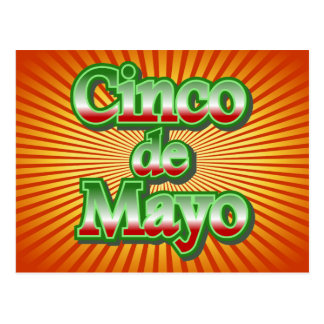 Cinco de Mayo Mexico May 5 Design Postcard