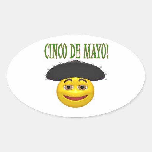 Cinco De Mayo Oval Sticker