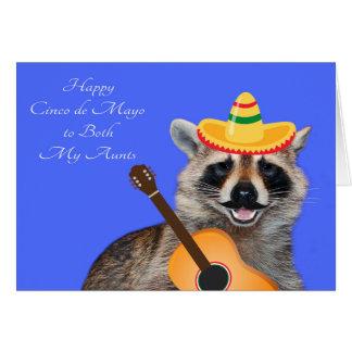 Cinco de Mayo para ambas mis tías Tarjeta De Felicitación