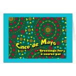 Cinco de Mayo para PAL secreto, mosaico colorido Tarjeta De Felicitación