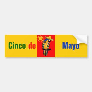 Cinco de Mayo Parrot Bumper Sticker