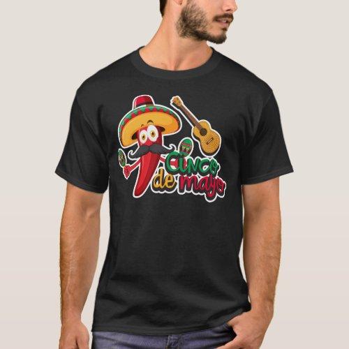 Cinco de Mayo Party Hot Pepper T_Shirt