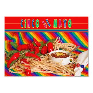 CINCO DE MAYO - PARTY INVITATION - COLORFUL/CHILI