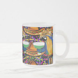Cinco De Mayo  Party Parrot Frosted Glass Coffee Mug