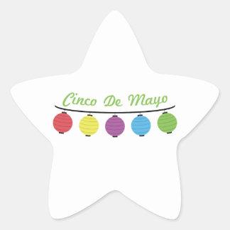 Cinco De Mayo Calcomanías Forma De Estrella Personalizadas
