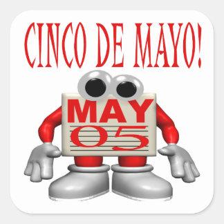 Cinco De Mayo Colcomanias Cuadradases