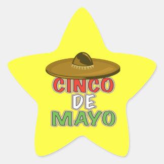 Cinco De Mayo Pegatina En Forma De Estrella