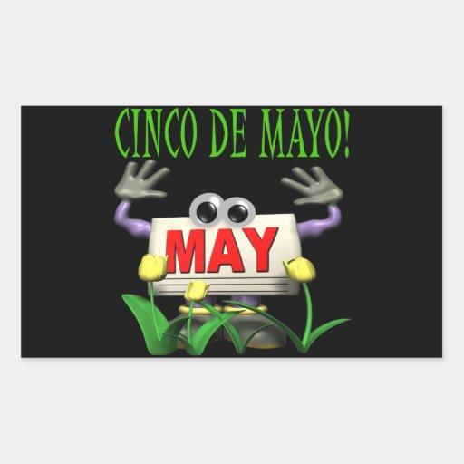 Cinco De Mayo Pegatina Rectangular