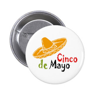 Cinco de Mayo Pin Redondo De 2 Pulgadas